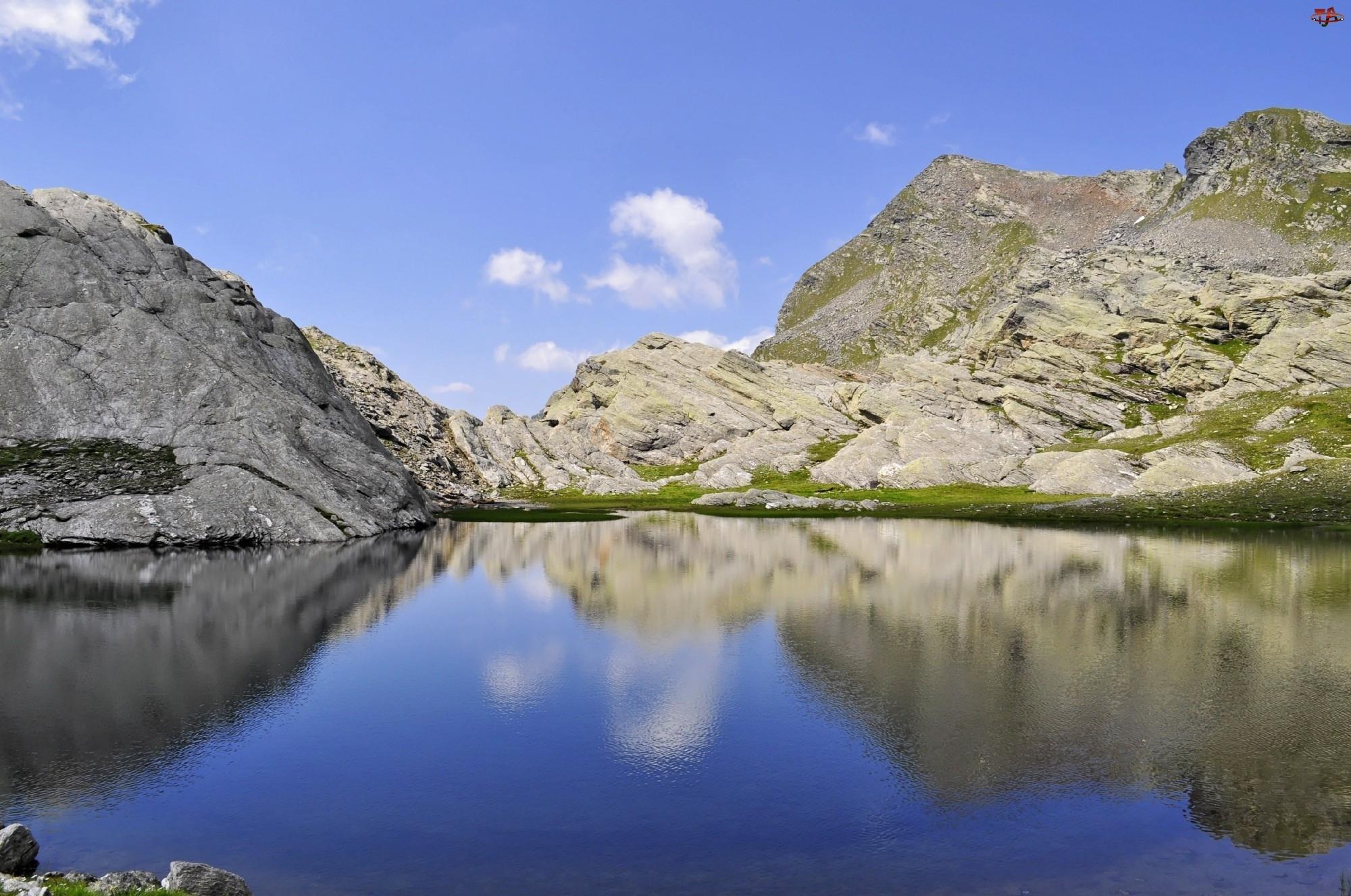 Jezioro, Góry, Alpy