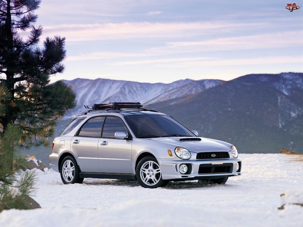 Kombi, Srebrne, Subaru Impreza