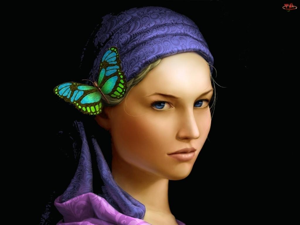 Chusta, Kobieta, Motyl