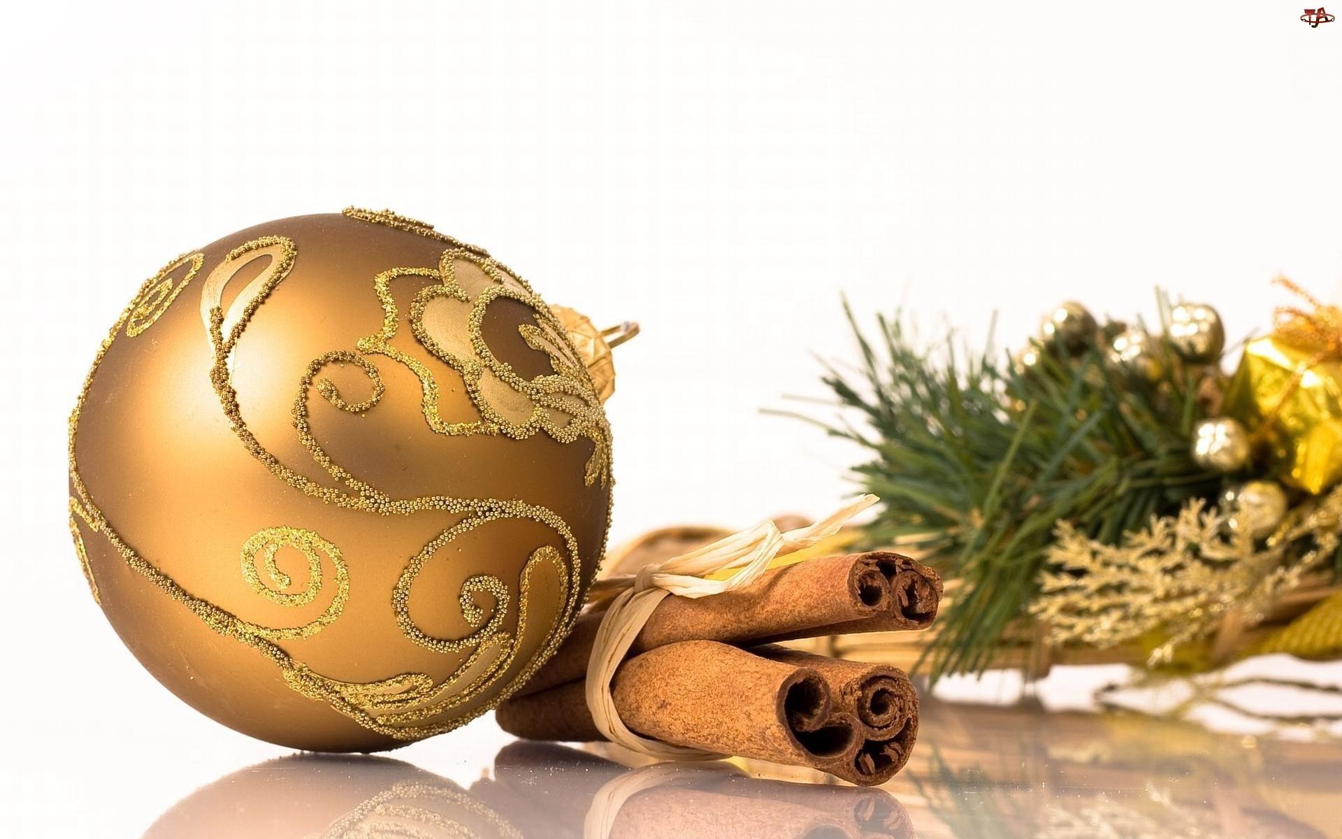 Święta, Bombka, Cynamon