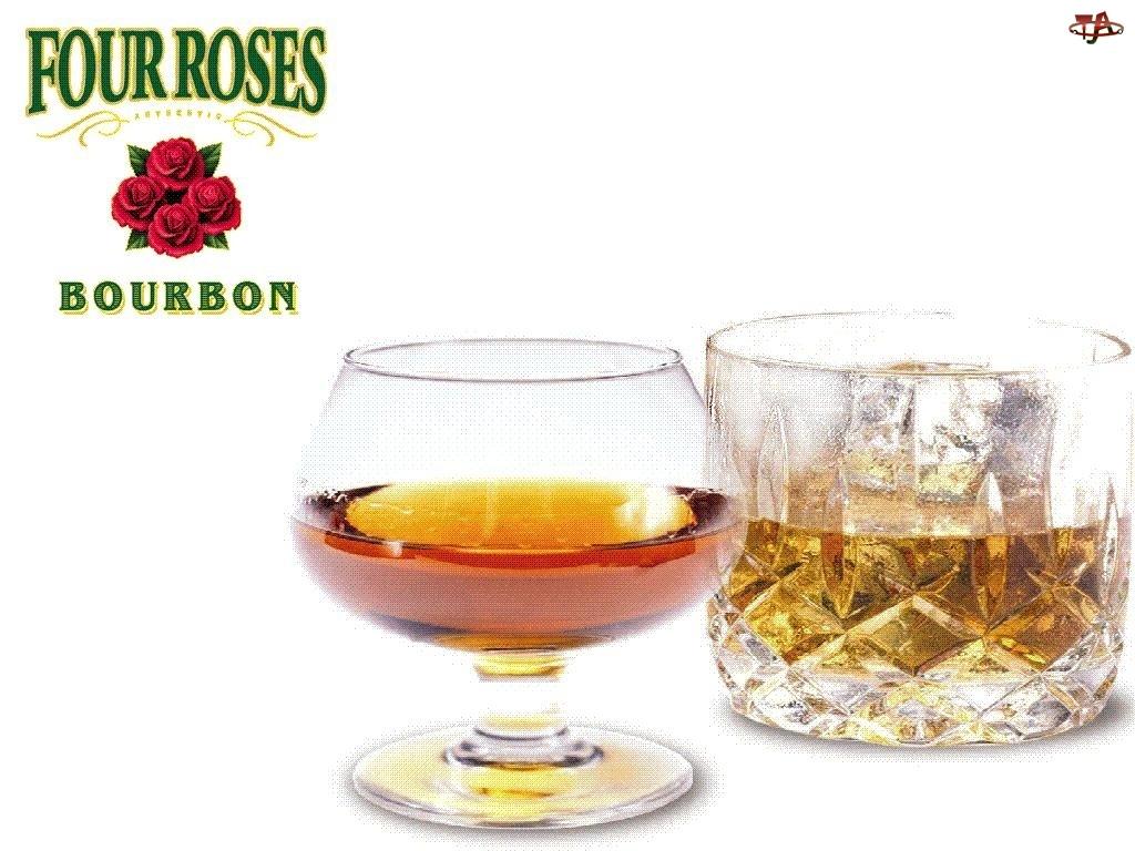 szklanki, Burbon, Four Roses