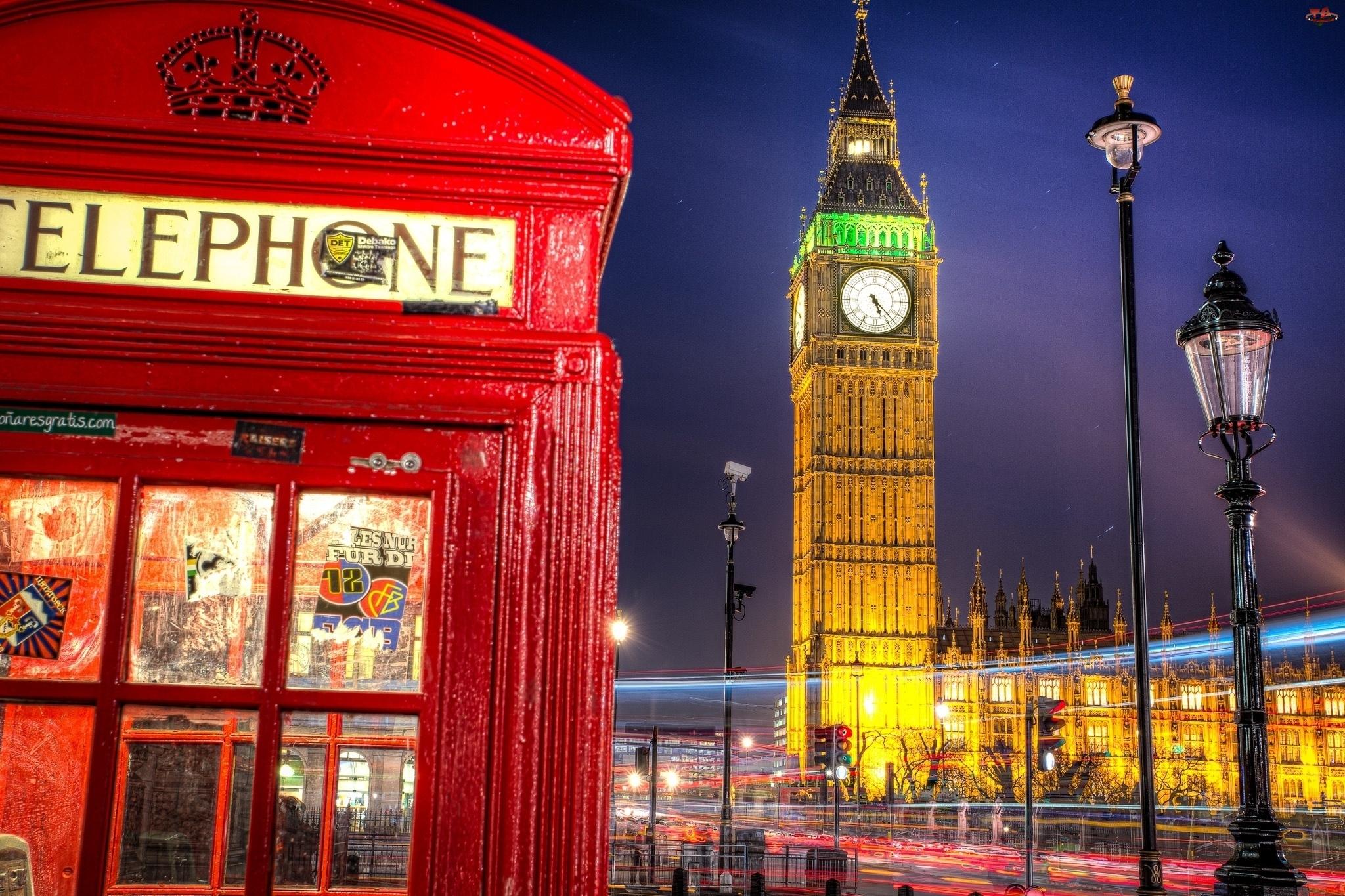 Big Ben, Londyn, Budka, Telefoniczna