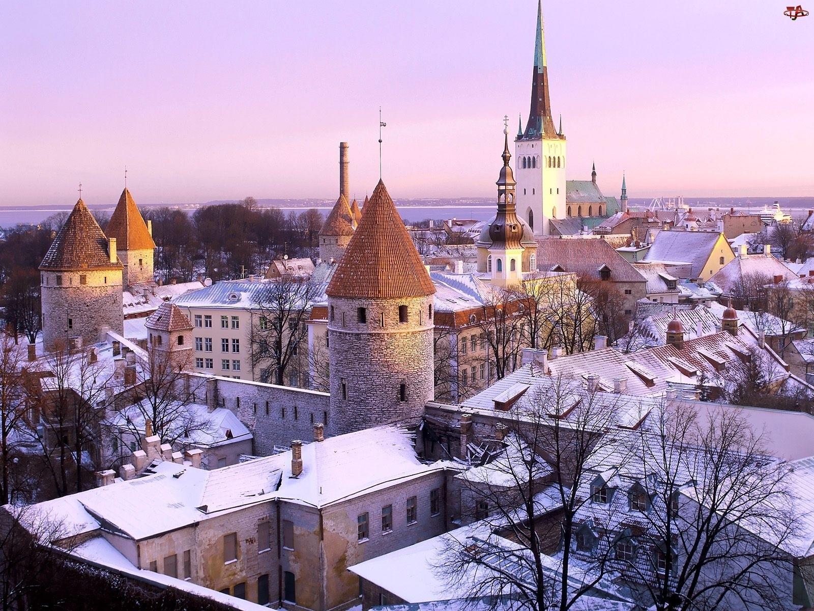 Estonia, Zima, Tallinn, Zabytki