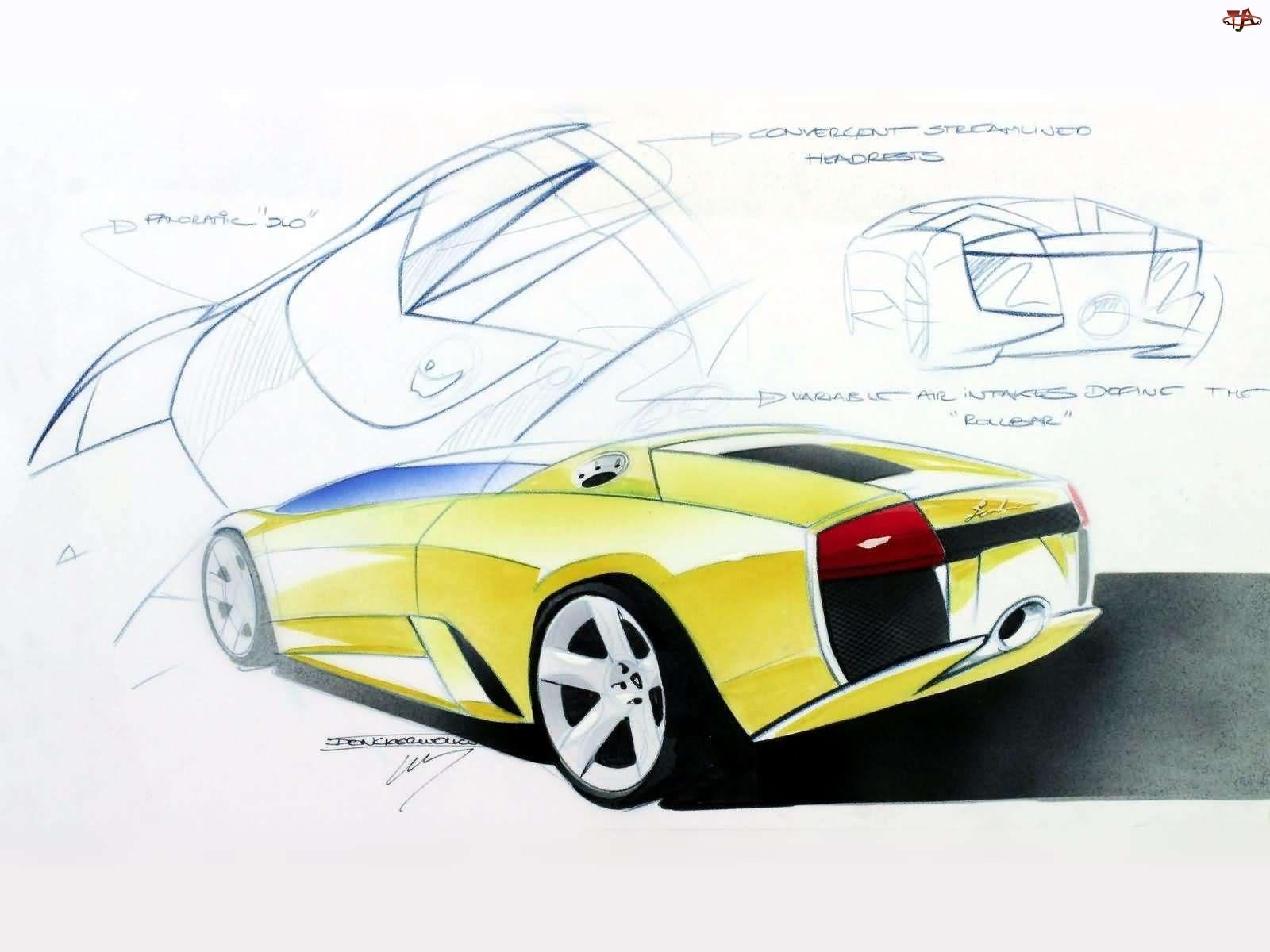 Rysunek, Lamborghini, Murcielago