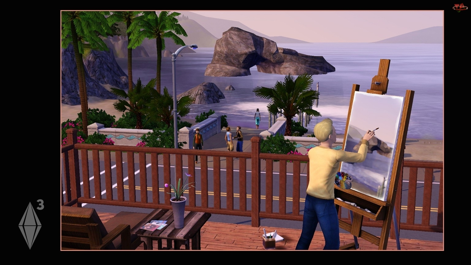 Jezioro, The Sims 3, Obraz