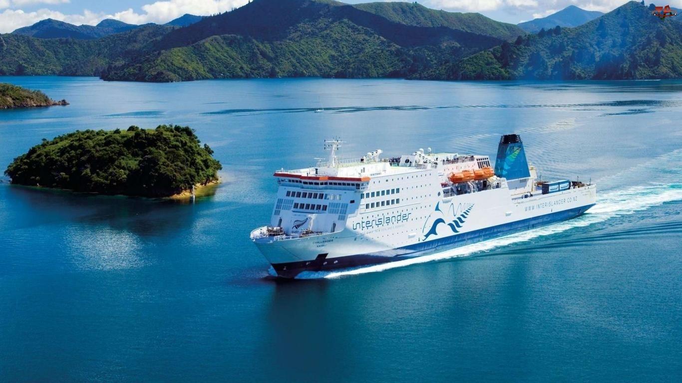 Prom, Nowa Zelandia, Morze, Wyspy