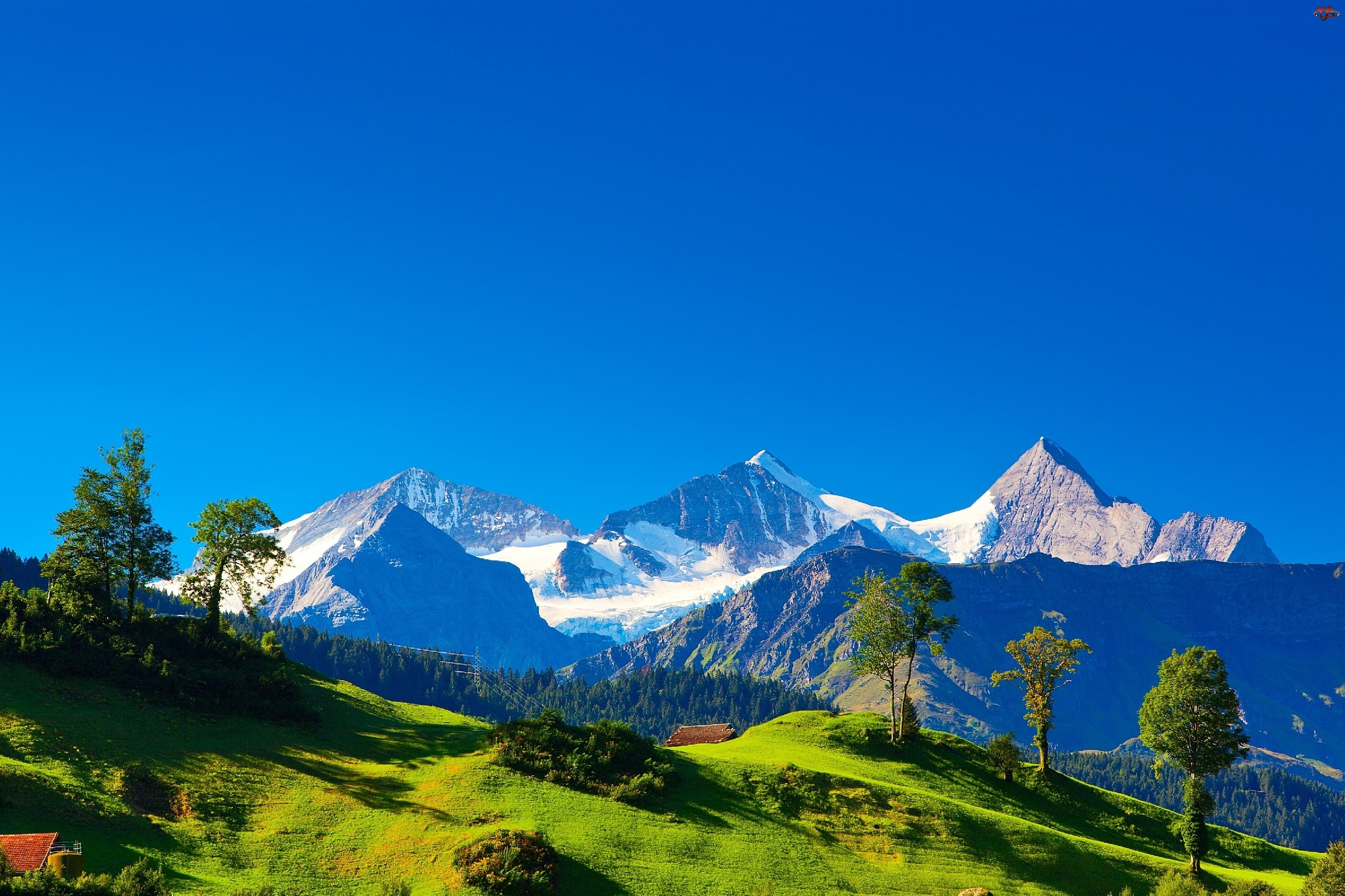 Krajobraz, Góry Alpy, Szwajcaria