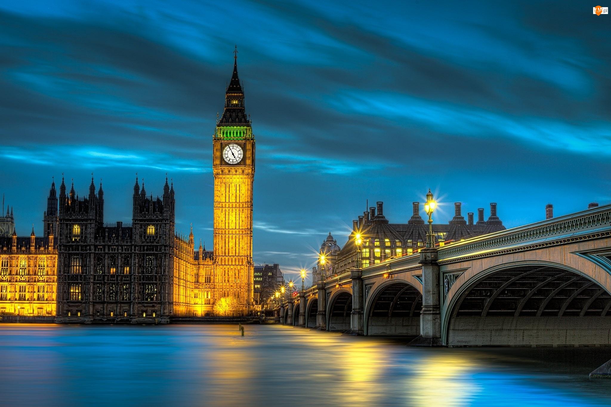 Big Ben, Anglia, Pałac Westminster, Londyn