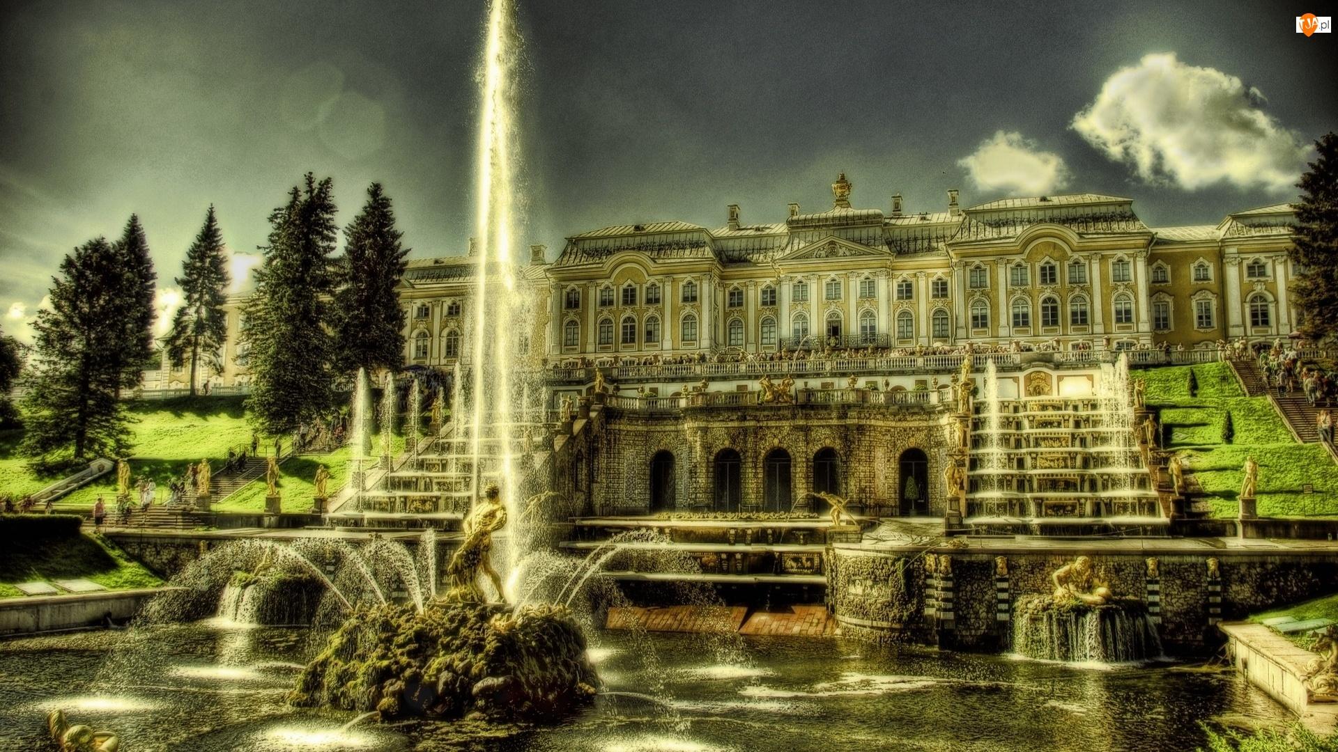 Pałac, Rosja, Fontanna, Peterhof
