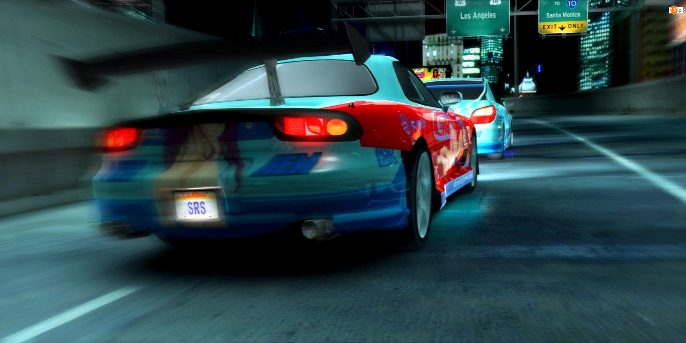 Street Racing Syndicate, wieżowce, samochód, ulica