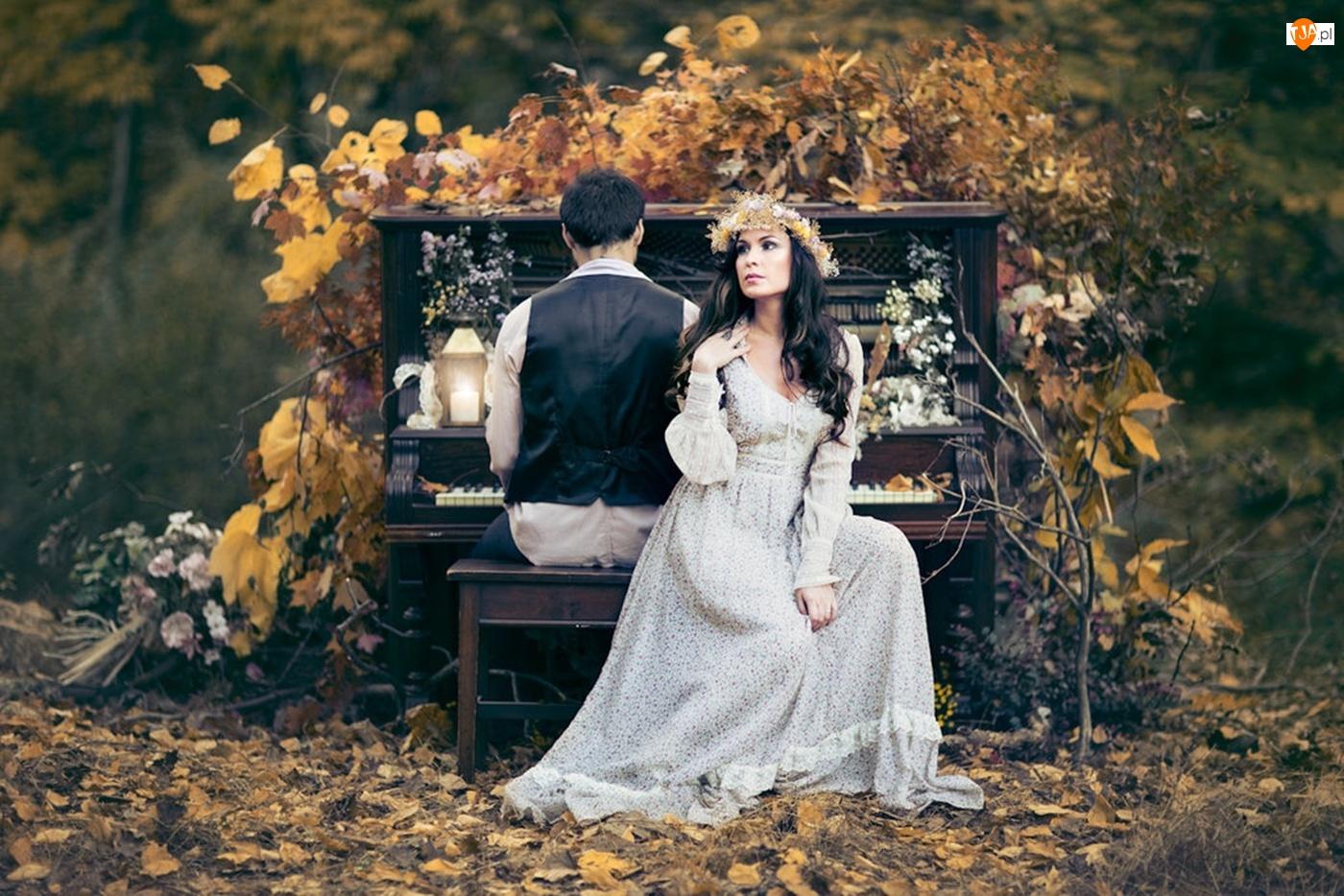 Pianino, Kobieta, Mężczyzna