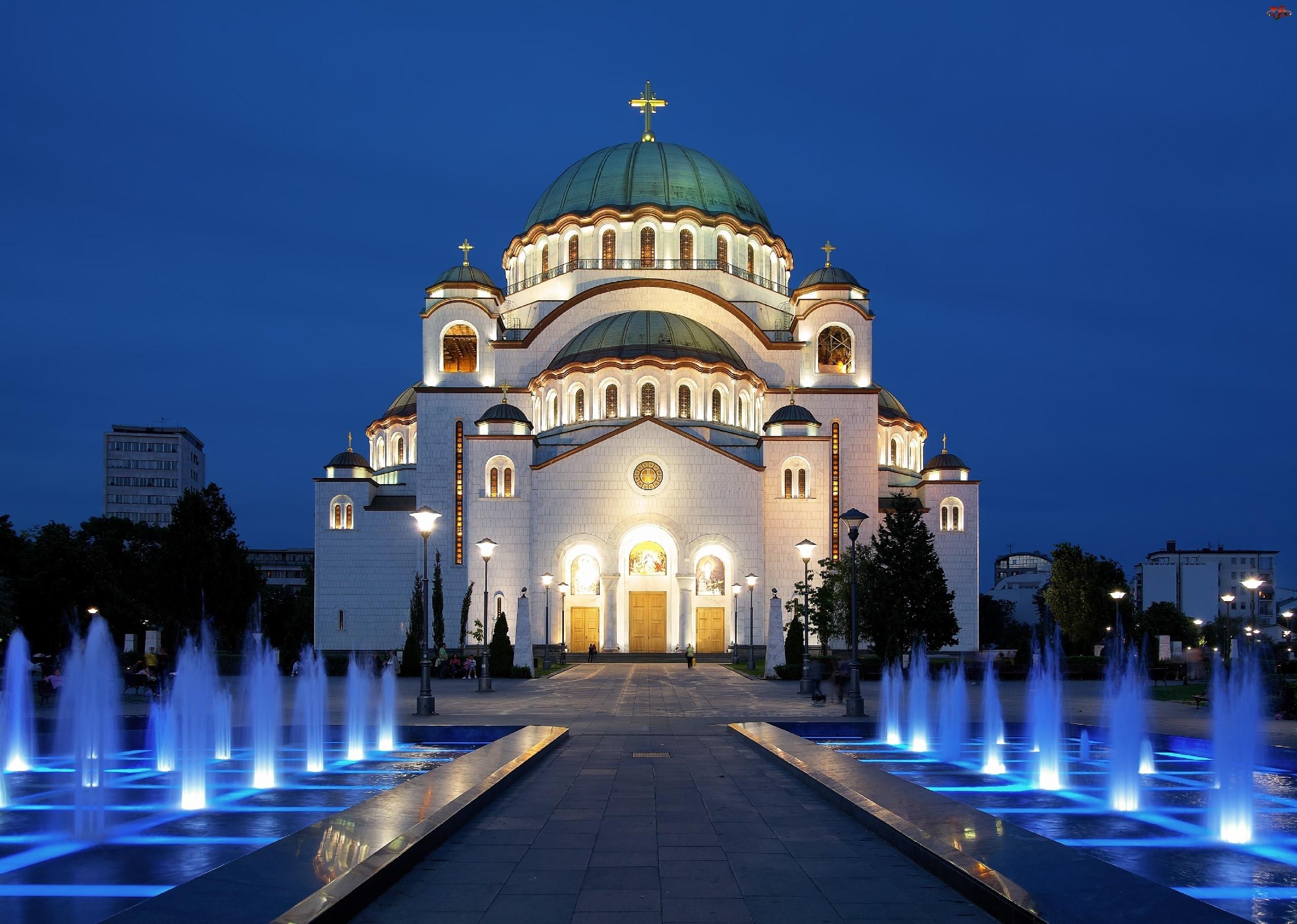 Serbia, Cerkiew, Fontanny, Saint Sava, Belgrad
