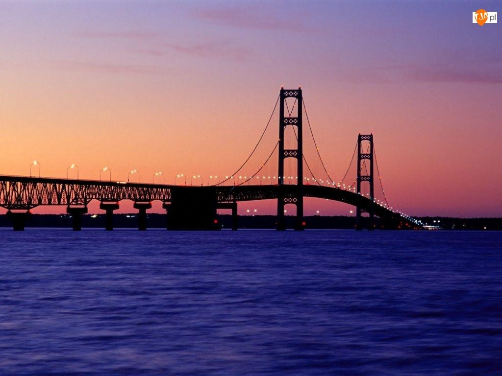 Zachód Słońca, Most, Rzeka
