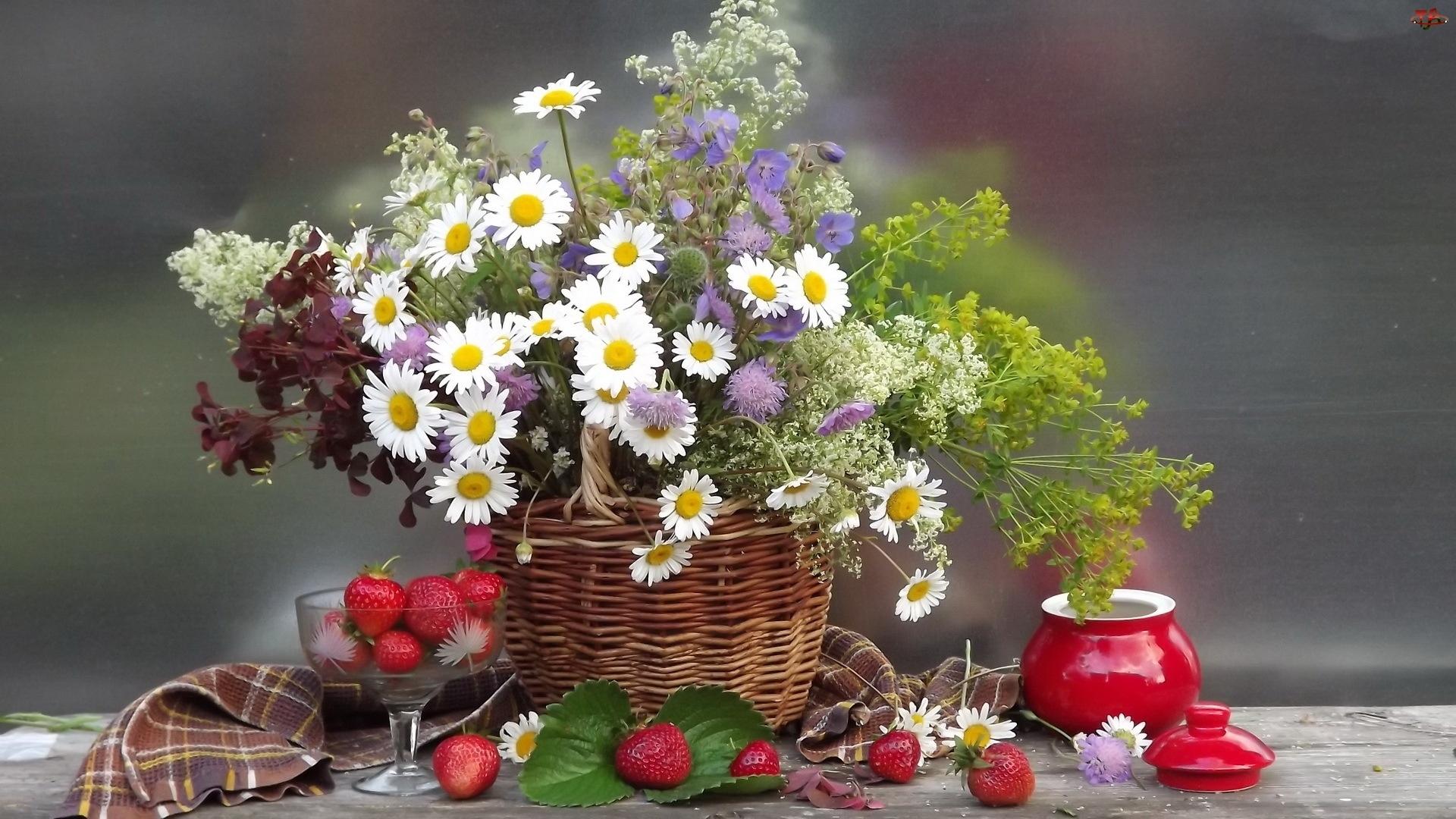 Bukiet, Natura, Kwiatów, Martwa