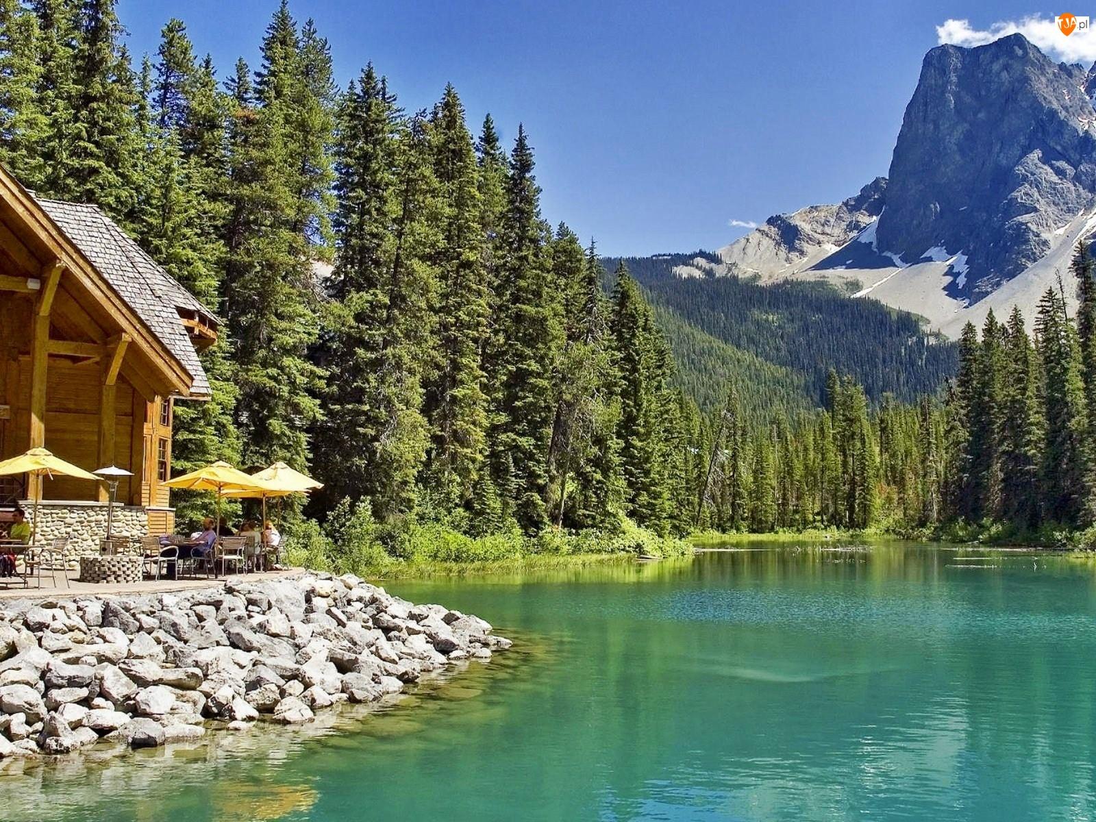 Góry, Jeziorem, Restauracja, Nad