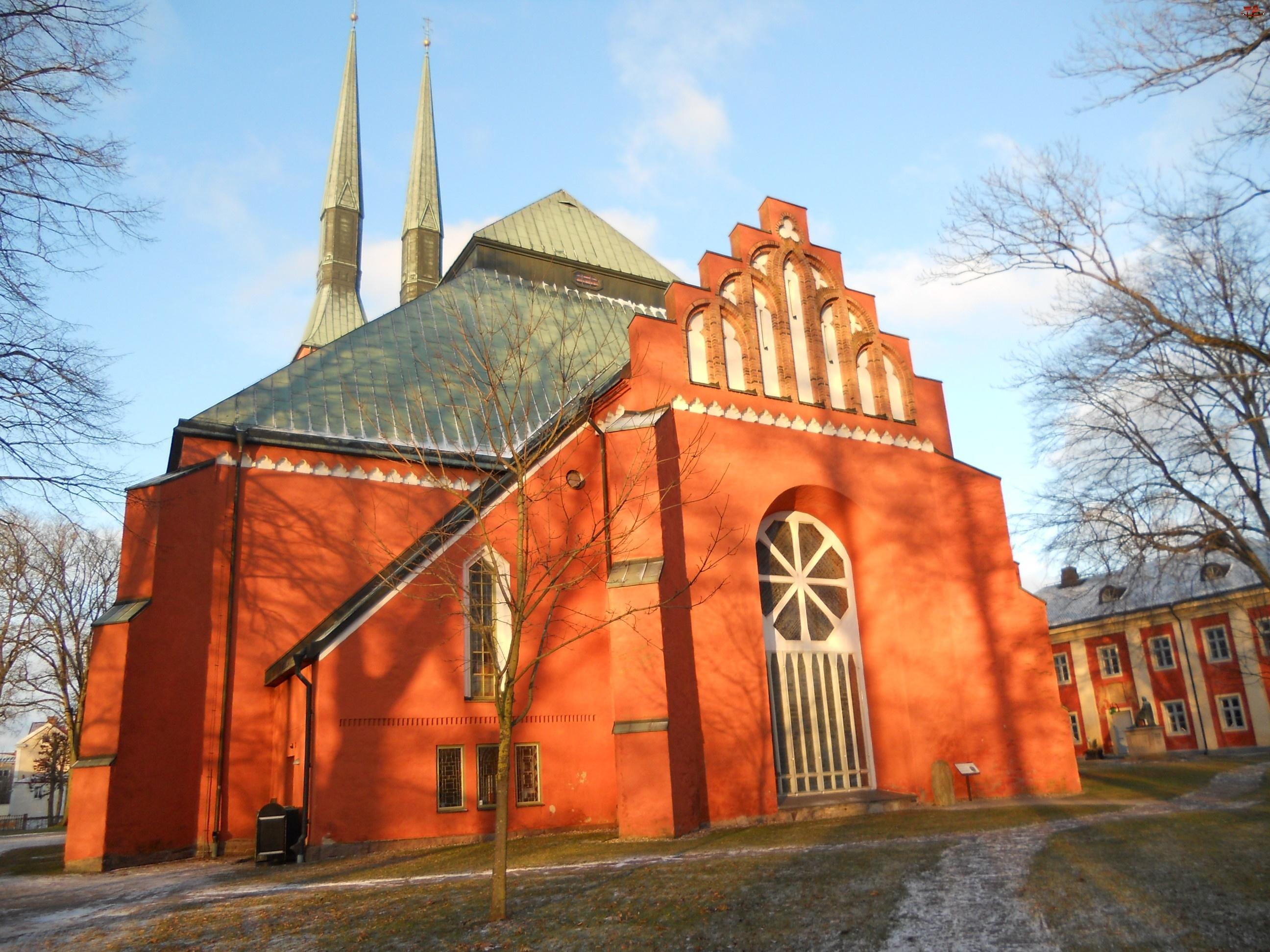 Kościoły, Szwecja Växjö, Zabytki, Budowle