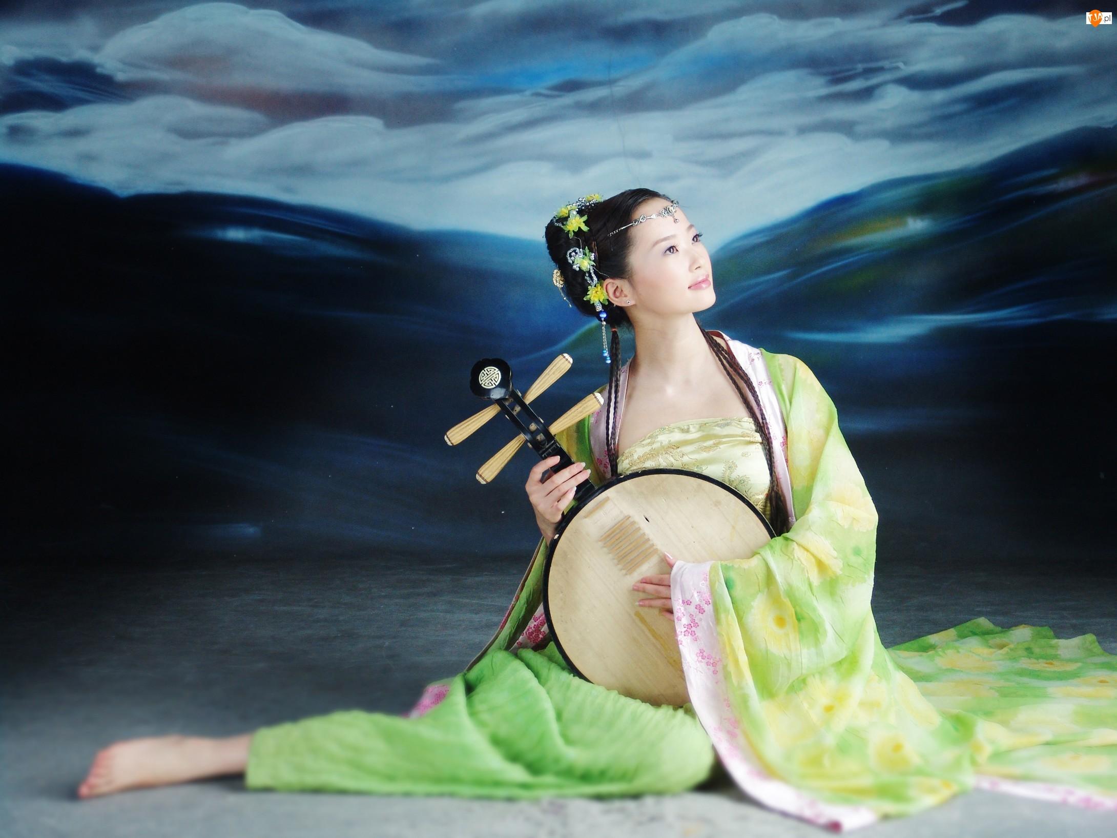 Kimono, Kobieta, Instrument