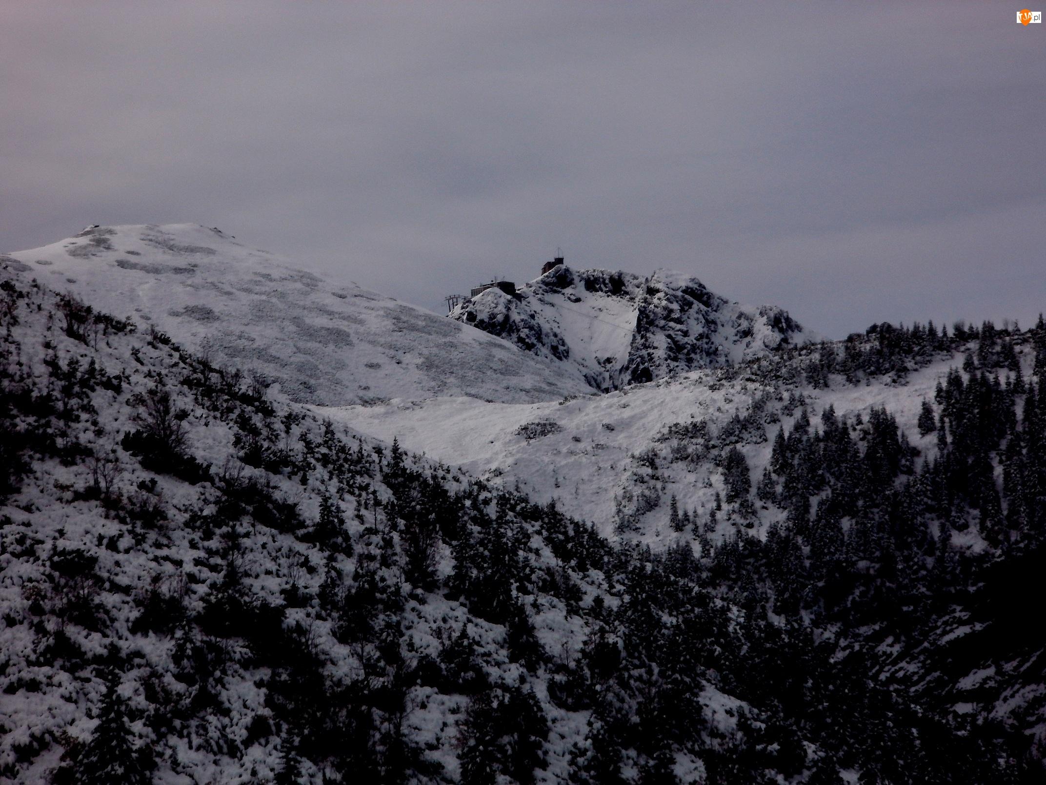 Wierch, Góry, Tatry, Zimą, Kasprowy