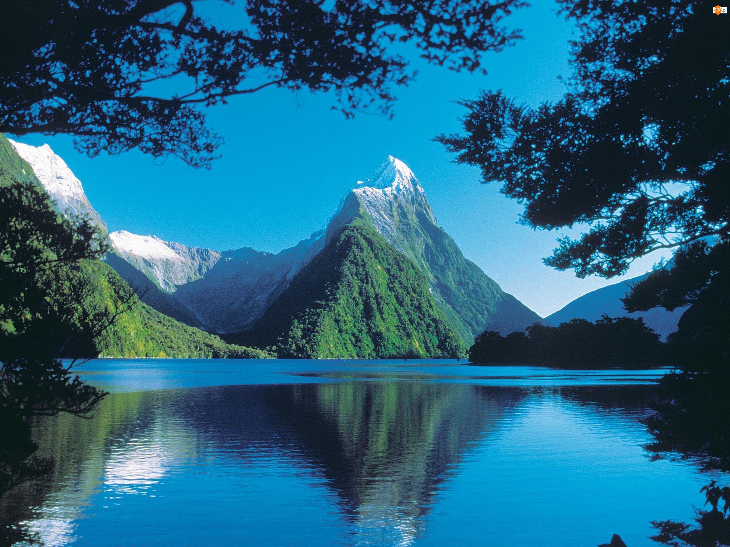 Nowa Zelandia, Jezioro Góry, Milford Sound
