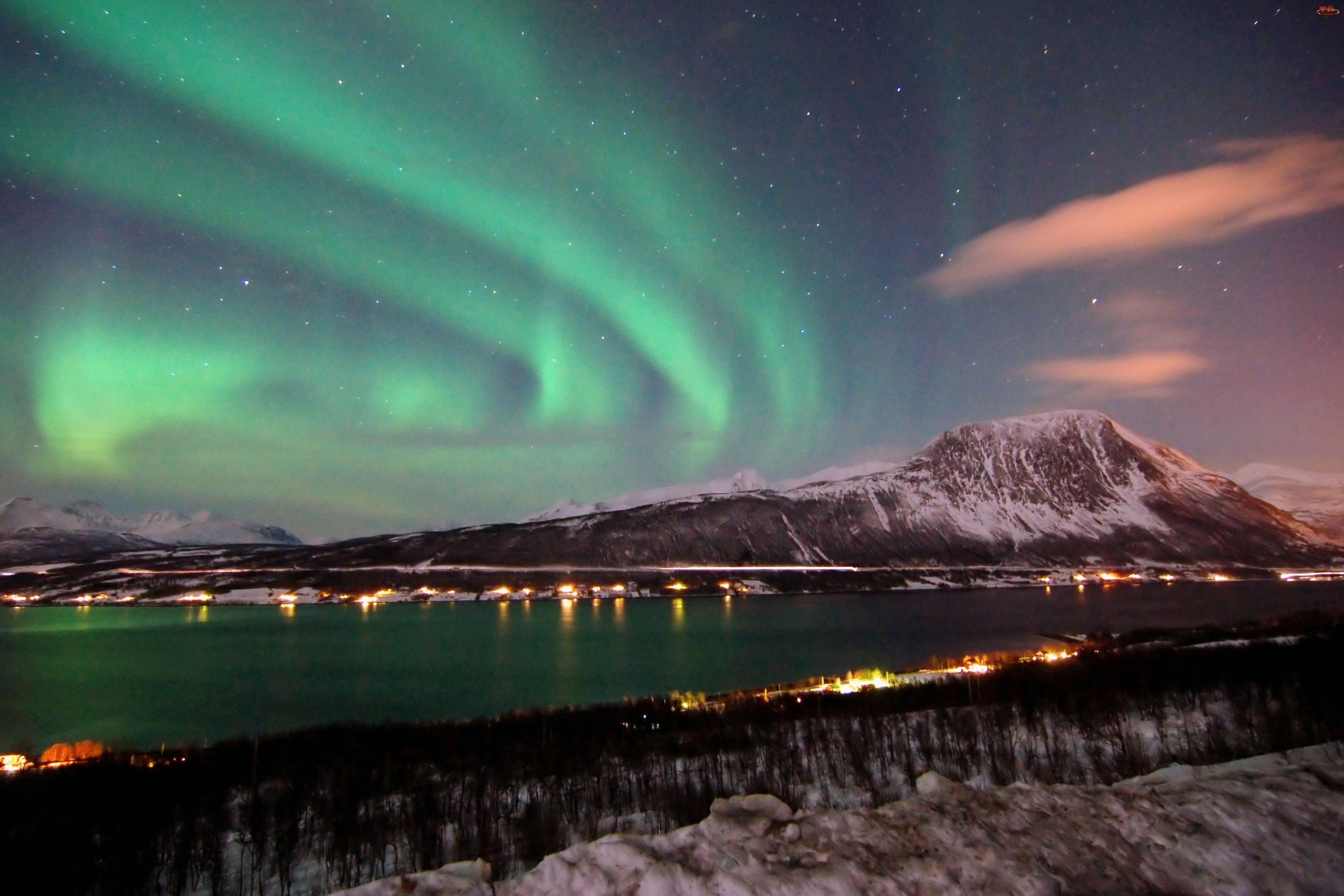 Norwegia, Zorza, Polarna