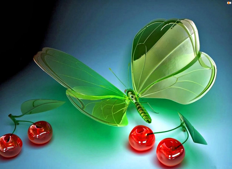 Wiśnie, Szklany, Motyl