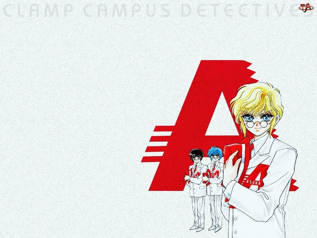 okulary, Claamp Campus Detectives, ludzie, litera, kobieta