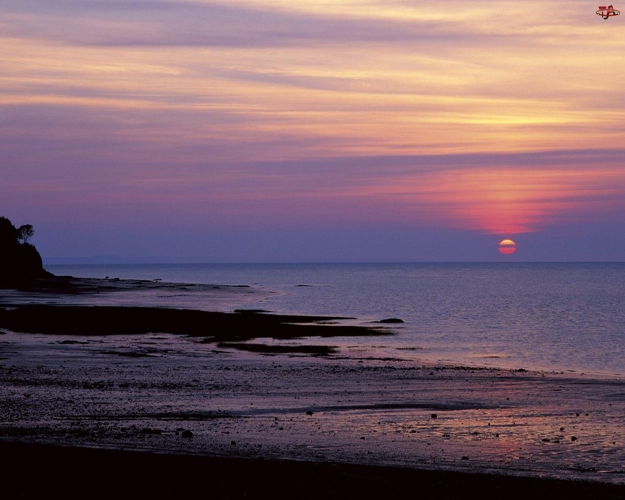 Zachód, Flauta, Słońce, Morze