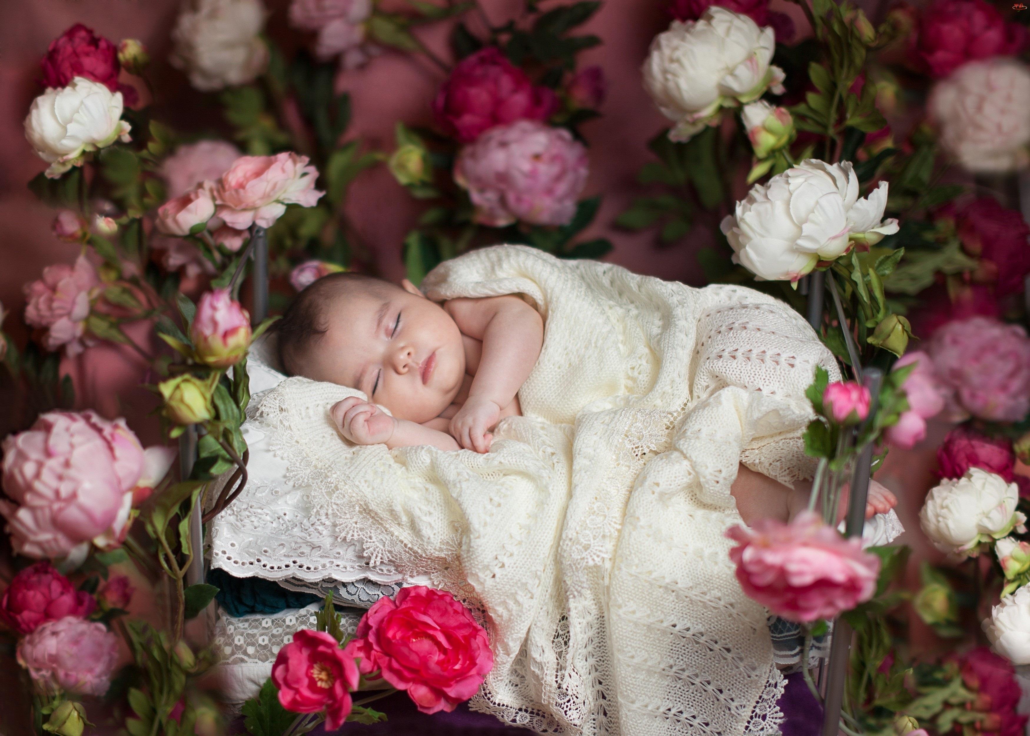 Kwiaty, Śpiące, Dziecko