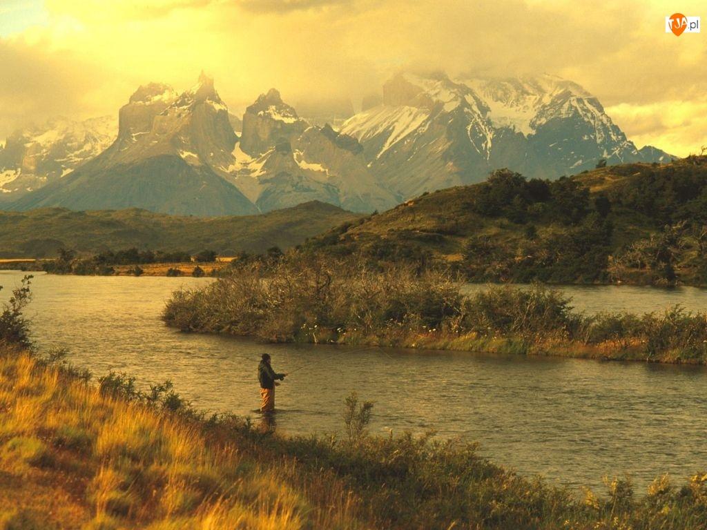 Rzeka, Wędkowanie, Góra
