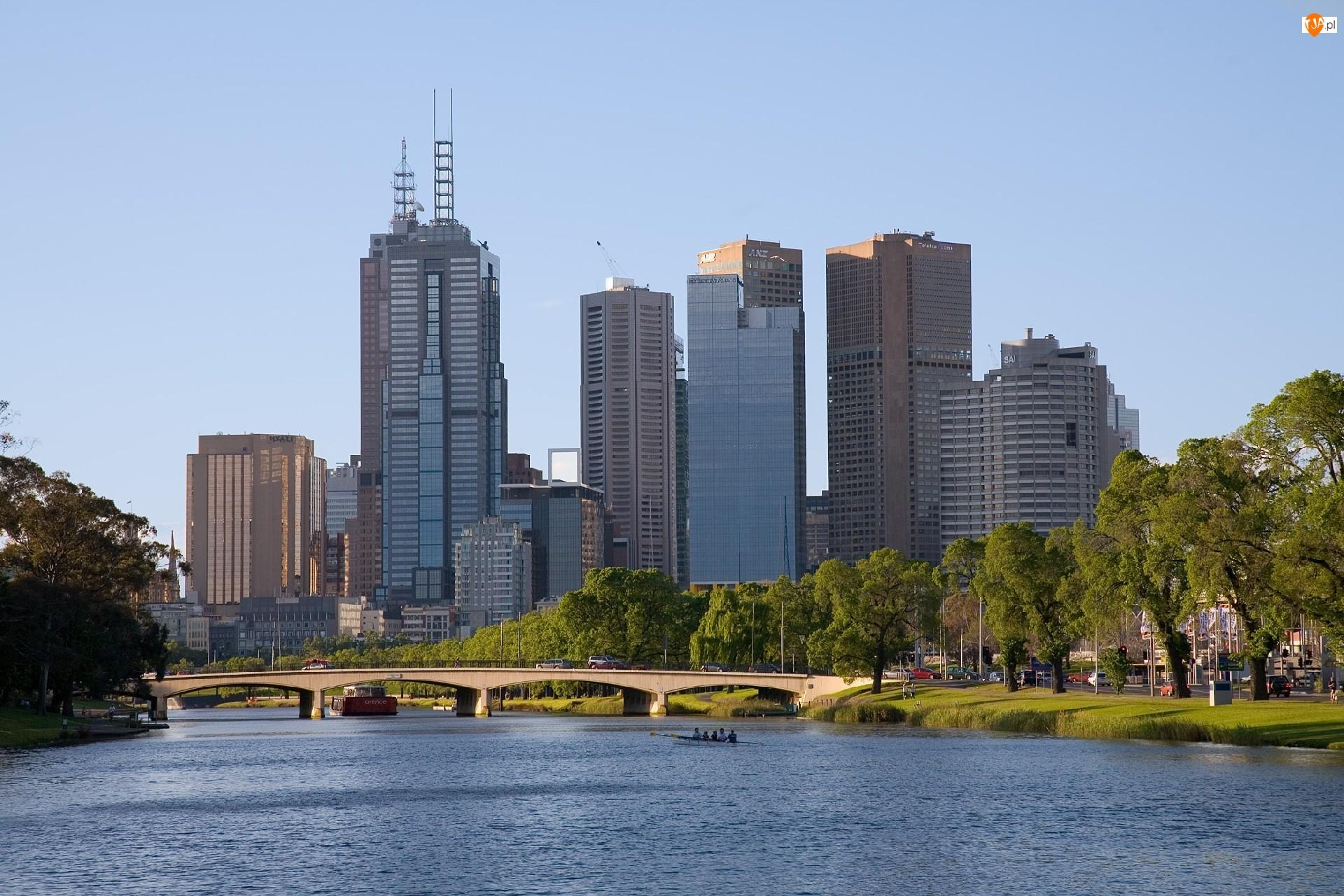 Melbourne, Architektura, Woda, Most