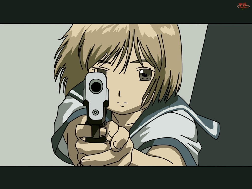 pistolet, Gunslinger Girl, postać, twarz