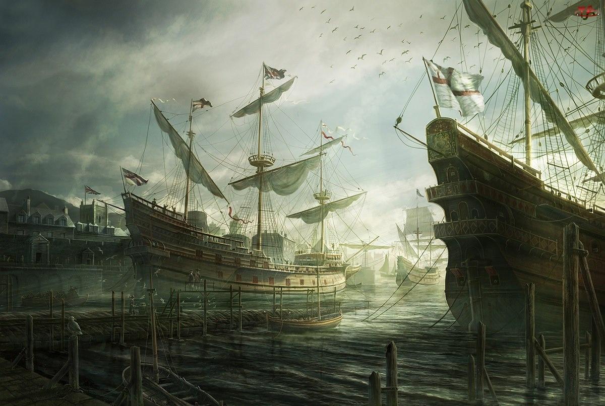 Port, Żaglowce, Morze