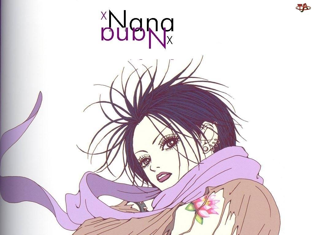 kolczyki, Nana, kolorowy tatuaż