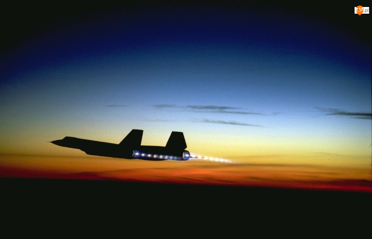 SR-71 Blackbird, Dopalacze, Zachód, Słońca