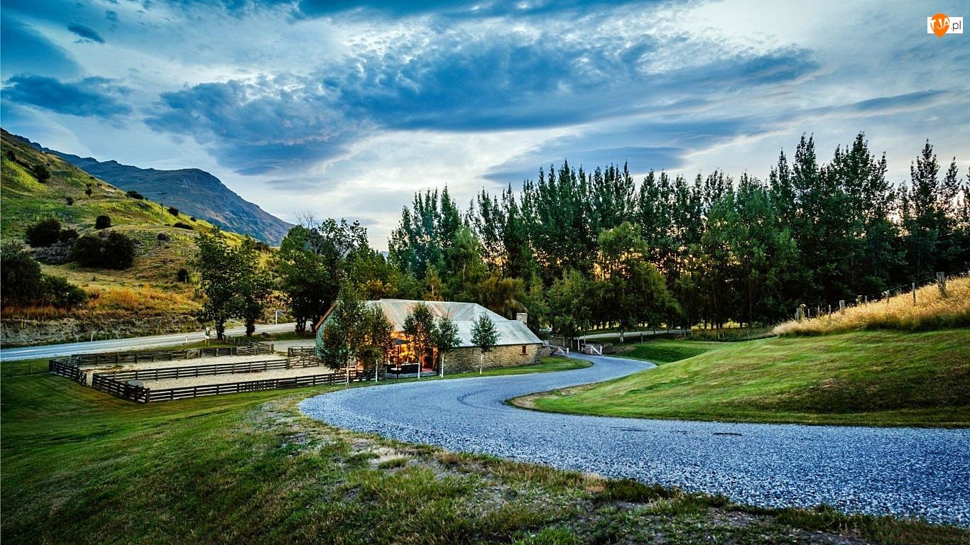 Góry, Nowa Zelandia, Droga, Dom