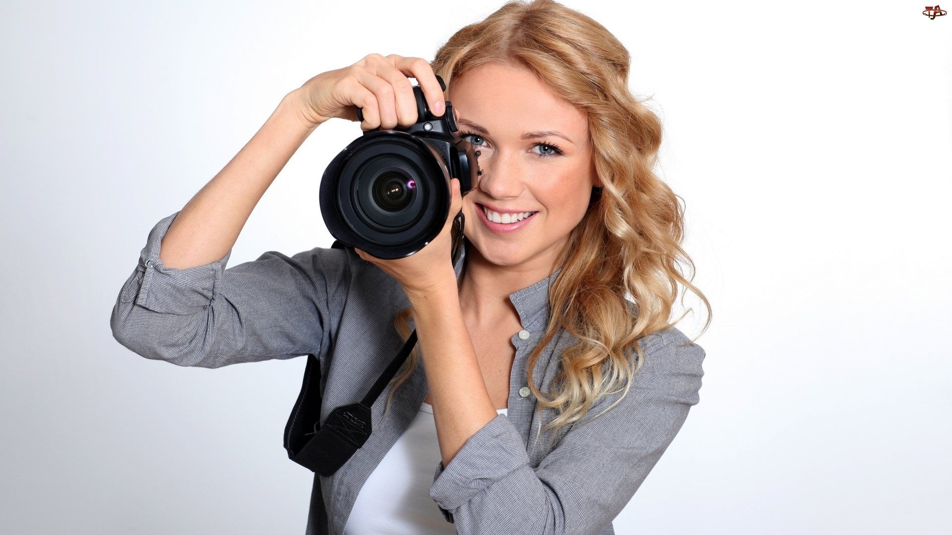 Fotografia, Kobieta, Aparat