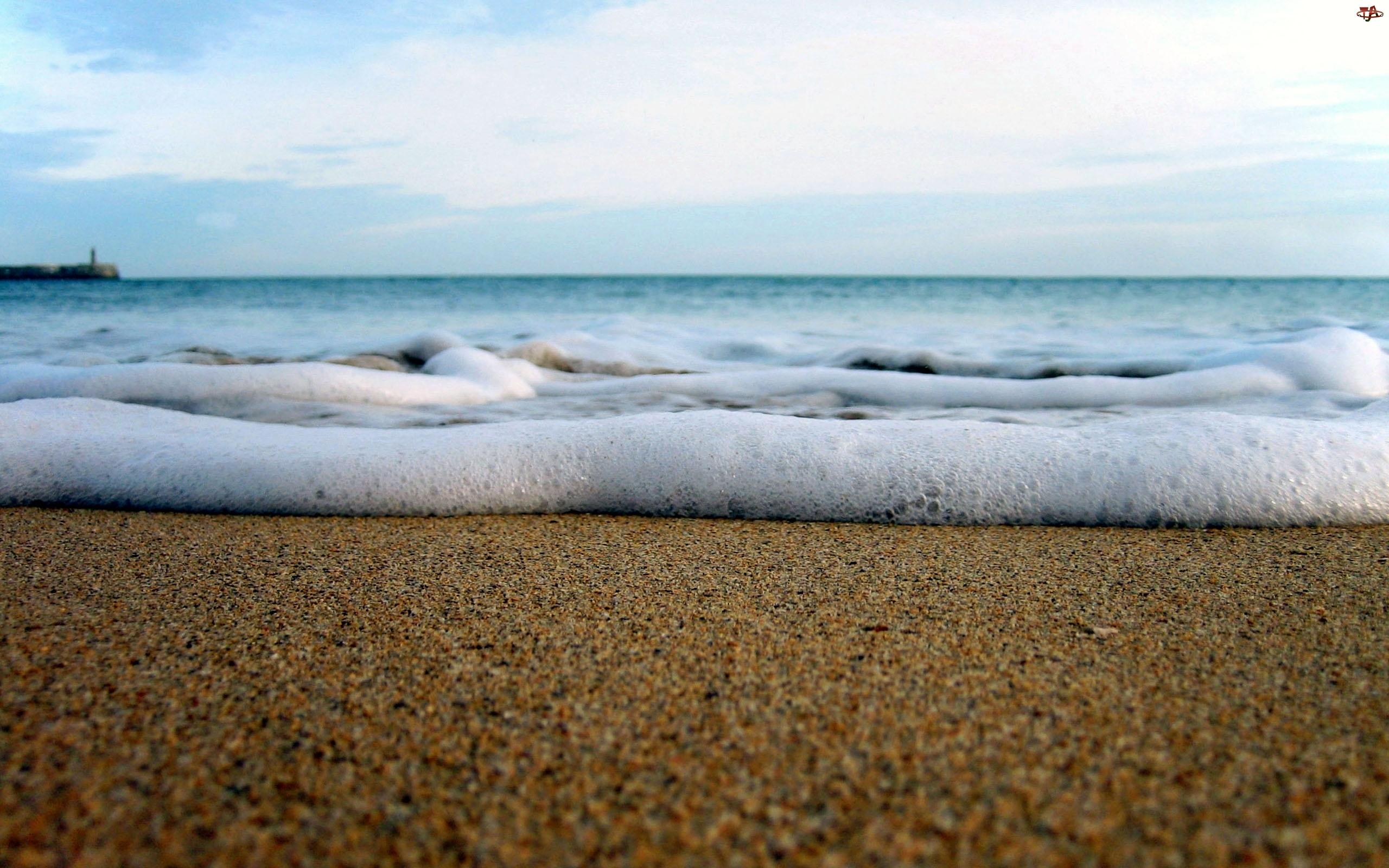 Plaża, Fala, Morze, Spieniona