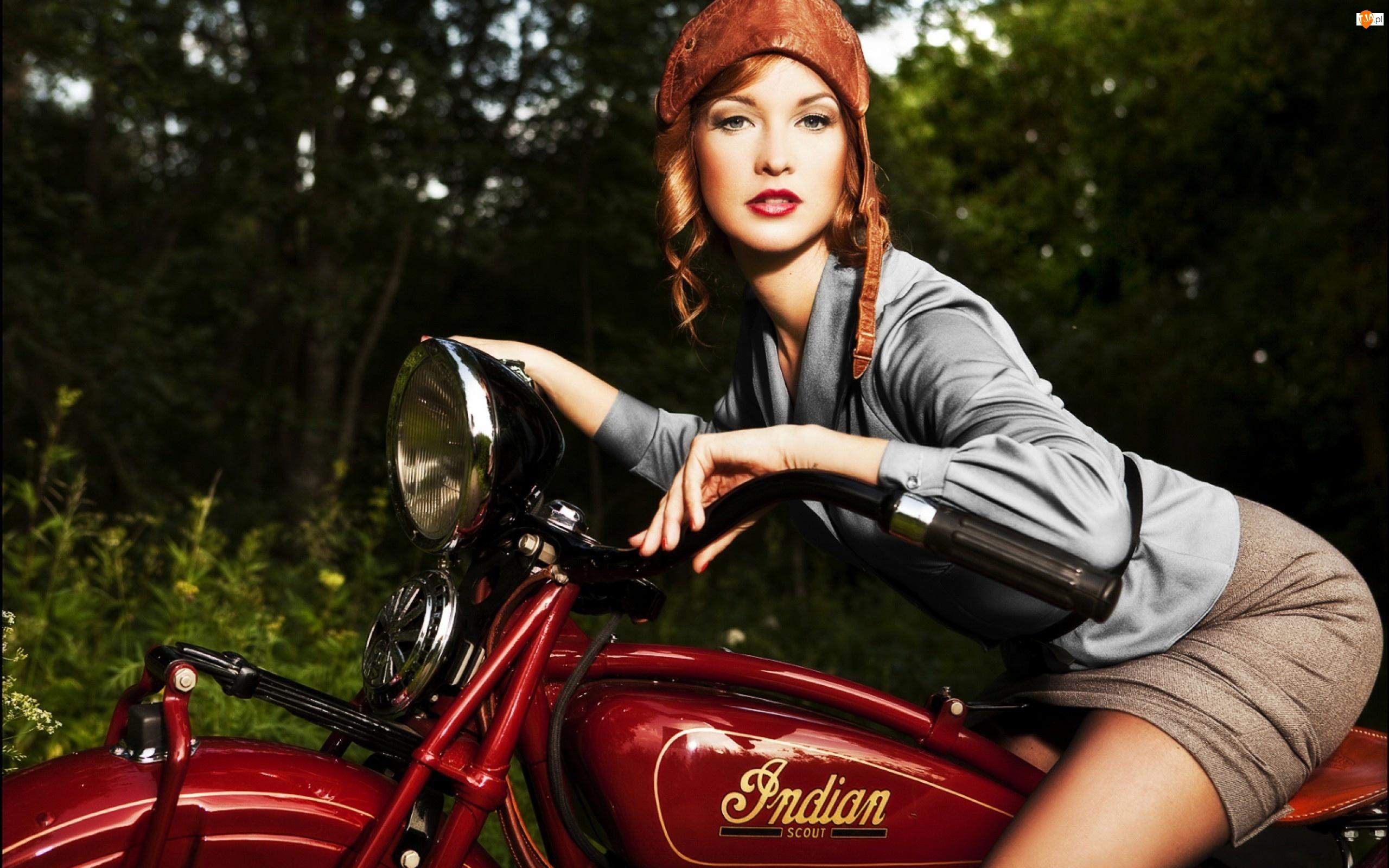 Las, Kobieta, Motocykl
