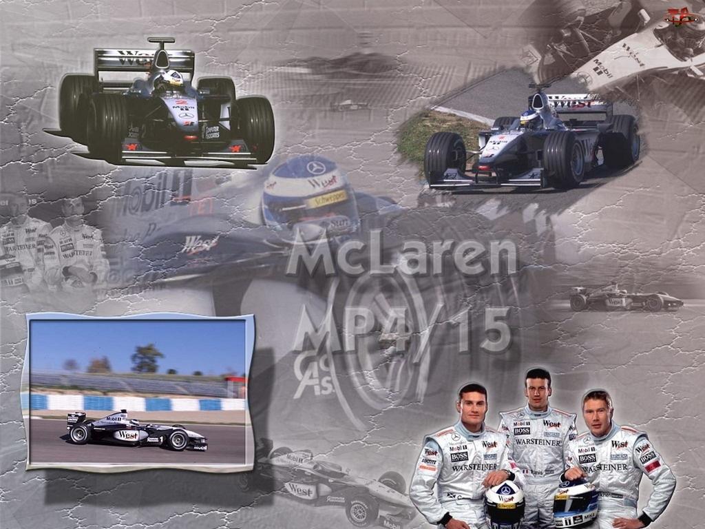 spojler, kask , bolid, Formuła 1, McLaren, opony, koła