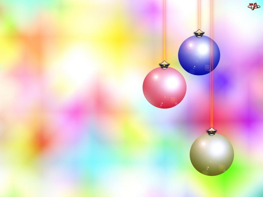 Bombki, Kolorowe, Świąteczne