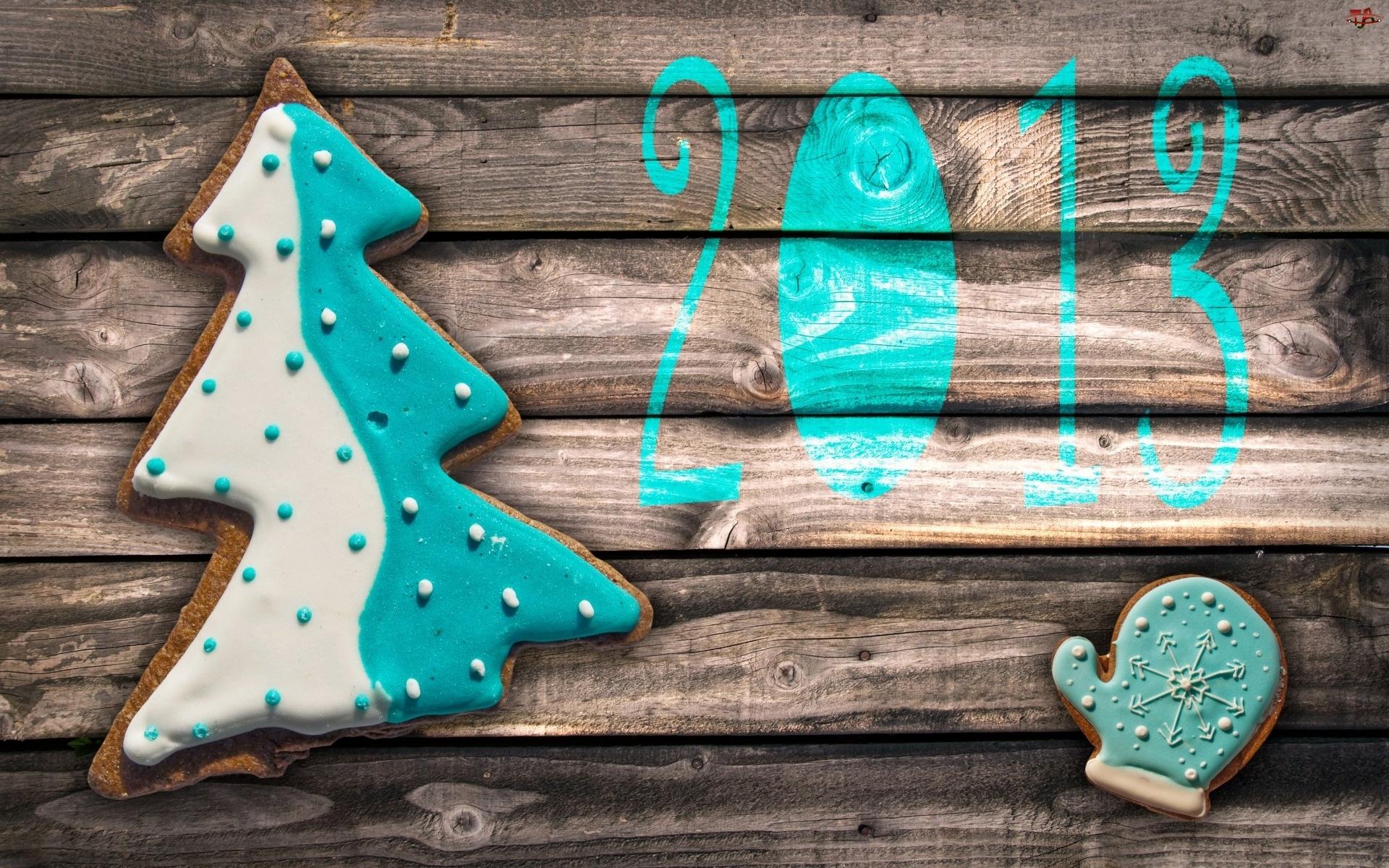 Nowy, Ciasteczka, Rok, Świąteczne