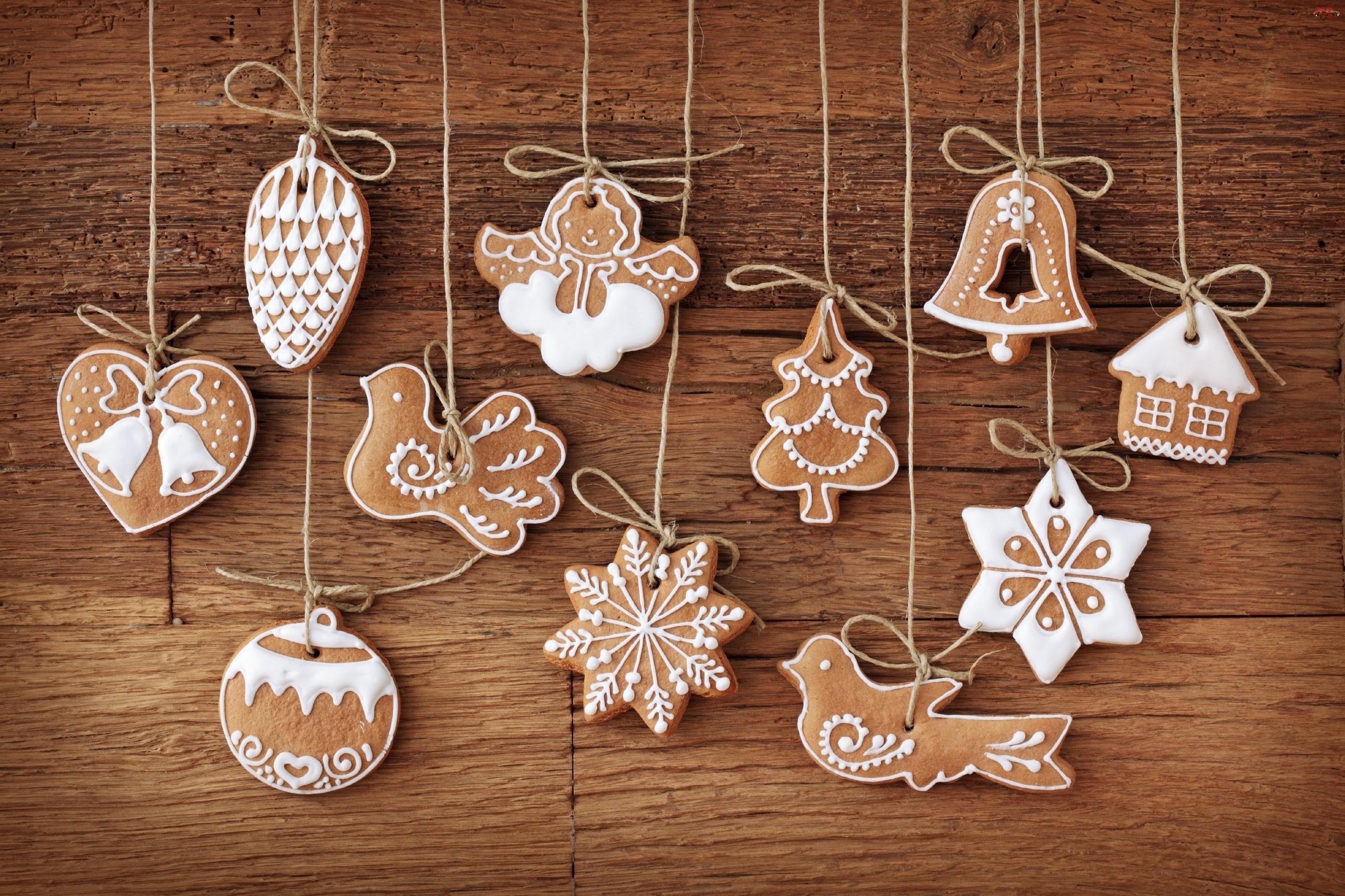 Choinkę, Świąteczne, Ciasteczka, Wypieki, Na