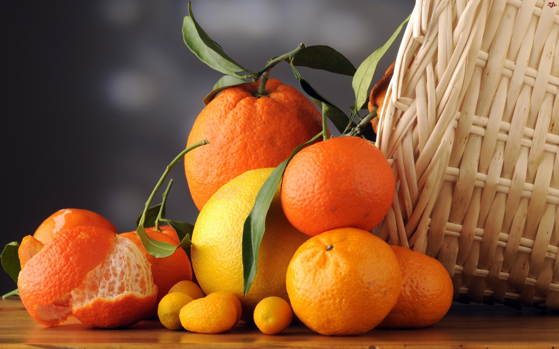 Kosz, Pomarańcze, Mandarynki