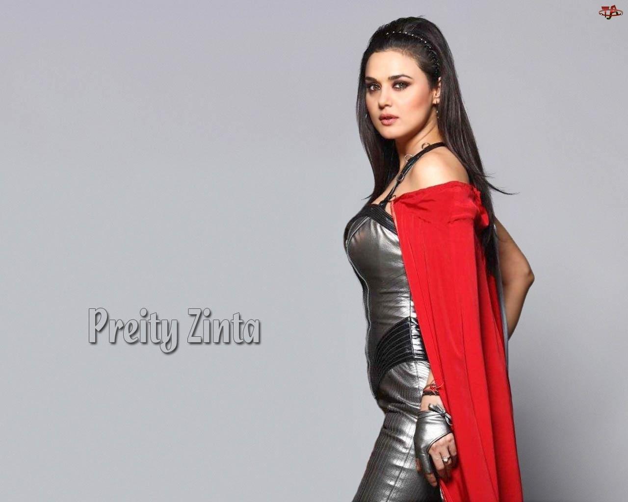 Aktorka, Płachta, Preity Zinta, Czerwona