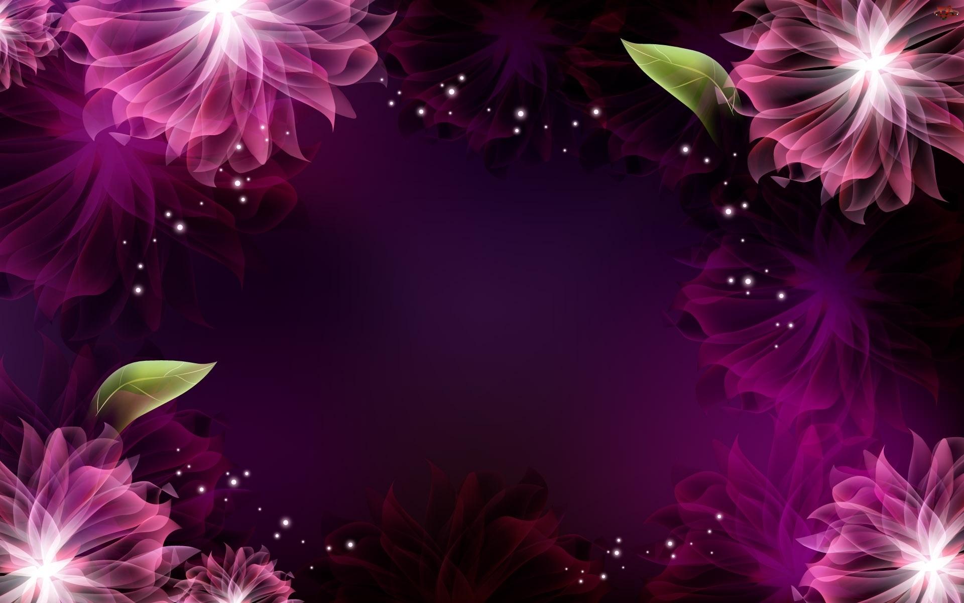 Odbicie, Kwiaty, Liście