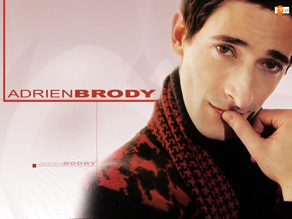 szalik, Adrien Brody, sweter