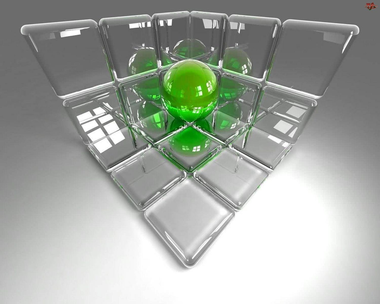 Szklana, Ściana, Zielona, Kula
