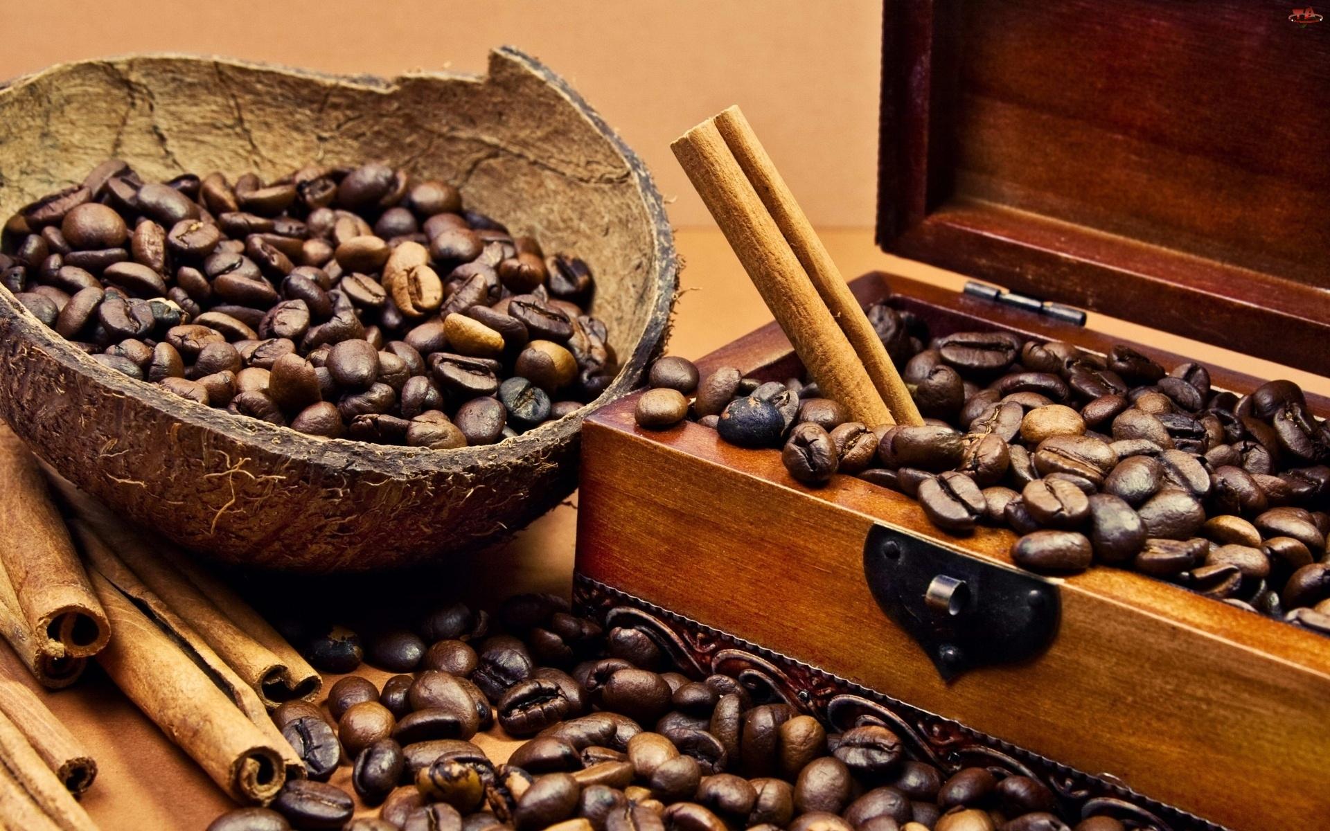 Cynamon, Ziarna, Drewniane, Kawy, Pódełko