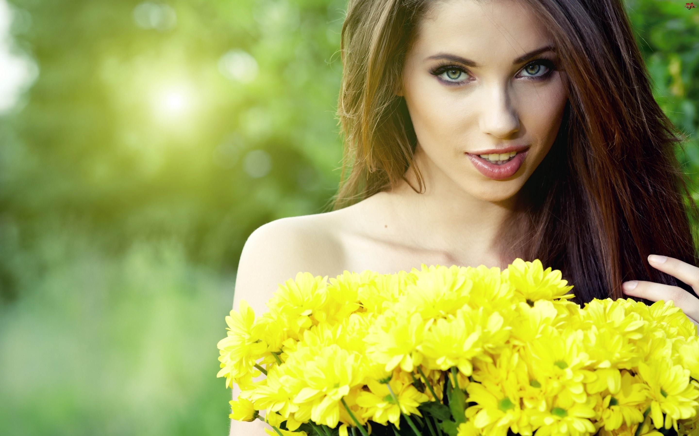 Chryzantemy, Kobieta, Żółte