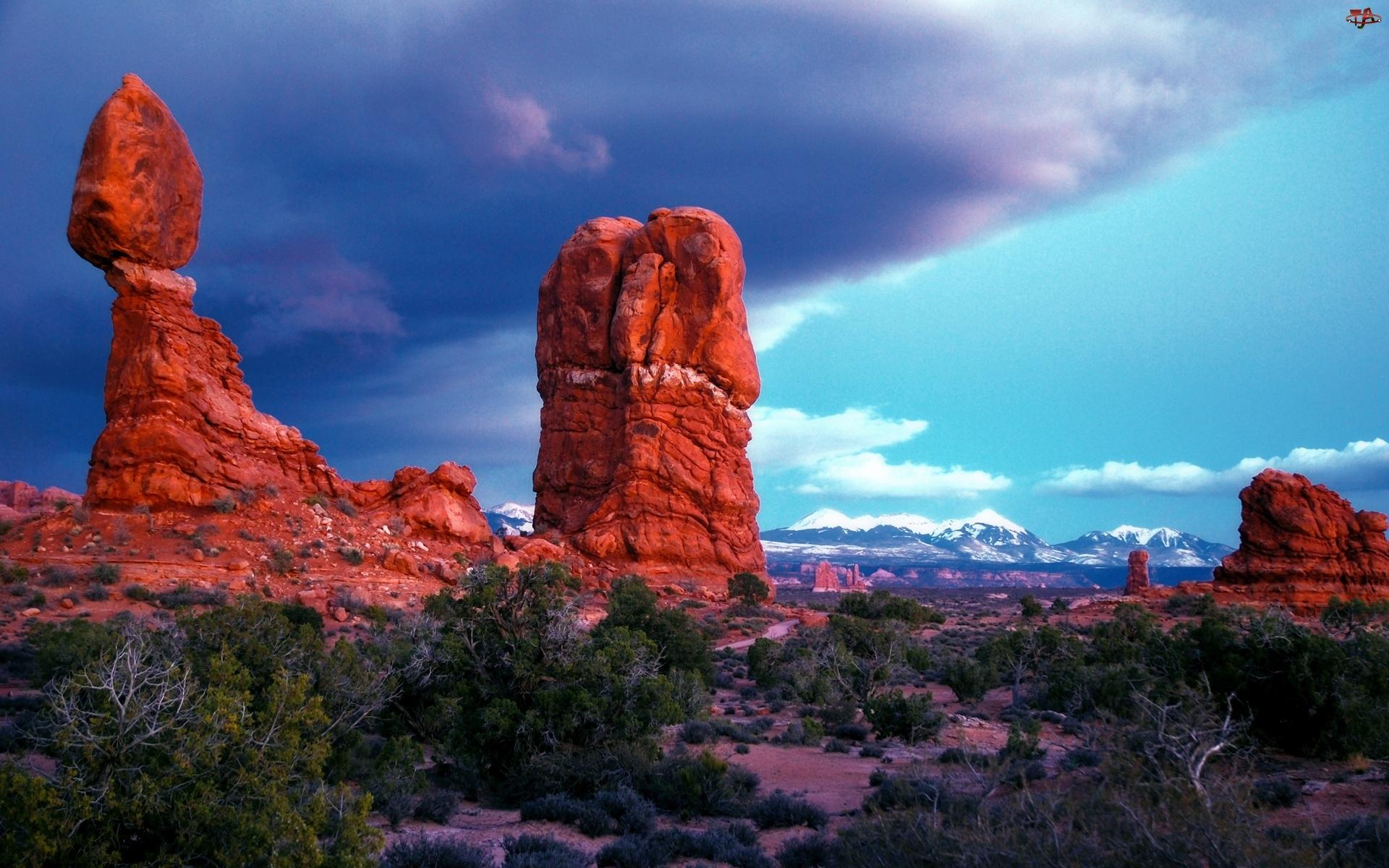 Chmury, Góry, Czerwone, Preria, Skały